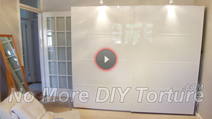 IKEA Pax Sliding Door Wardrobe Assembly Video