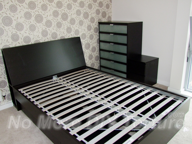 Ikea mandal storage bed review for Big w bedroom storage