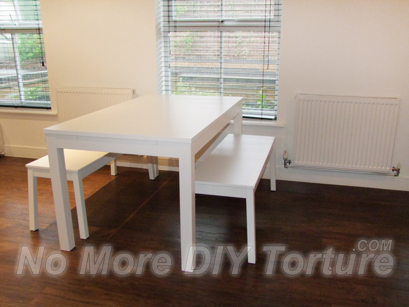 Flatpack kitchen furniture cabinets units drawers organisers delivery and assembly service Dining bench ikea