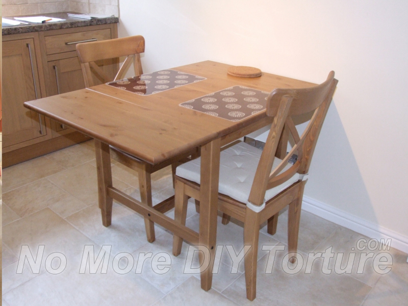 IKEA-Leksvik-Drop-Leaf-Dining-Table-Chair